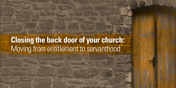 closing the back door of your church  moving from